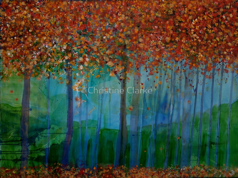 Autumn Trees by Christine Clarke