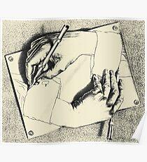 Souvenir aus den Niederlanden - Eschers Hände Poster
