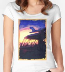 Night Surf Women's Fitted Scoop T-Shirt