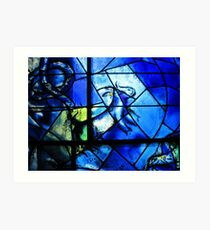 Stained glass window of Chagall - 1 Art Print