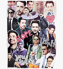 Robert Downey Jr. fangirl edit tumblr collage Poster