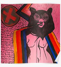 Woman and Bear  Poster