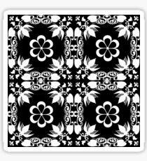 Ornamental seamless pattern damask arabesque white elements texture black Sticker