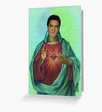 Sacred heart of Elvis Greeting Card