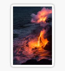 Kilauea Volcano Lava Flow Sea Entry 6 - The Big Island Hawaii Sticker