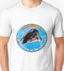 Orca Whale  predators attacking Unisex T-Shirt