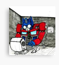 Transformers in the Office Canvas Print