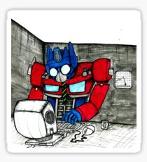 Transformers in the Office Sticker