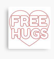 Cute Boyfriend Girlfriend Gift Hugs Love Pink Heart Canvas Print