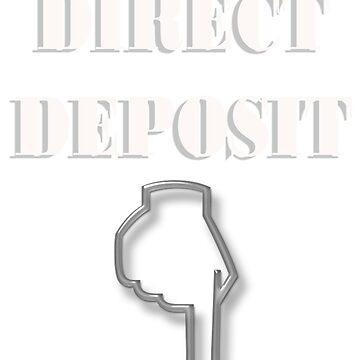 Direct Deposit Below Tee by UFBWill