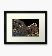 It is Not Venice – the Venetian Las Vegas at Night Framed Print