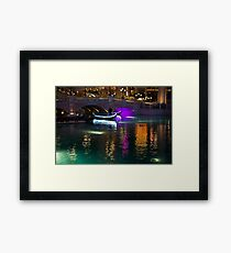 It is Not Venice - Bright Lights, Glamorous Gondolas and the Magic of Las Vegas at Night Framed Print