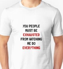 Exhausted Slim Fit T-Shirt