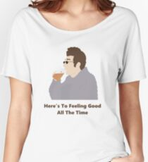 Seinfeld Kramer Feel Good Comedy Fan Art Unofficial Jerry Larry David Funny Women's Relaxed Fit T-Shirt