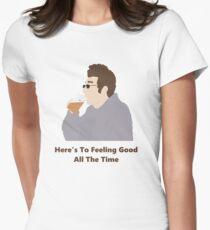 Seinfeld Kramer Feel Good Comedy Fan Art Unofficial Jerry Larry David Funny Womens Fitted T-Shirt