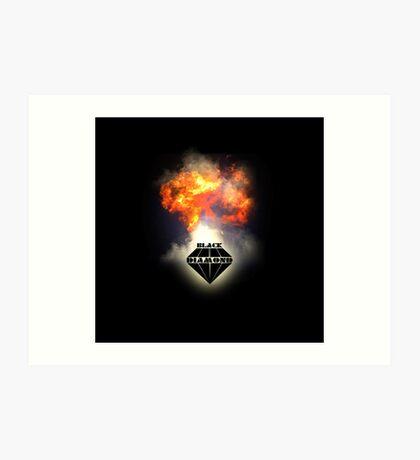 Black Diamond logo Art Print