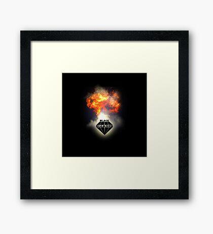 Black Diamond logo Framed Print