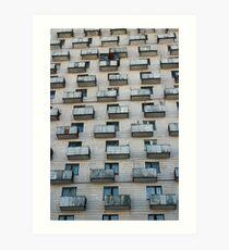 balconies similar to boxes Art Print