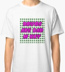 South Park Drugs are bad Funny TV Cartman Comedy Weed Pattern Classic T-Shirt