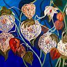 Japanese Lanterns, Botanical by Alma Lee by Alma Lee