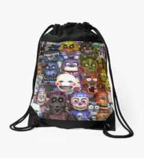 FNaF ~ 5 Five Nights at Freddys ~ Video Game Gamer Gaming Drawstring Bag