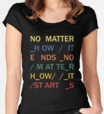 No matter - In Rainbows Women's Fitted Scoop T-Shirt