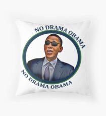 No Drama Obama Throw Pillow
