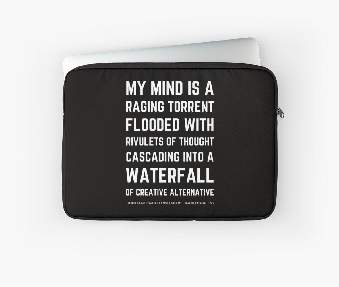 Funny Mel Brooks Blazing Saddles Quote Simple Version Laptop