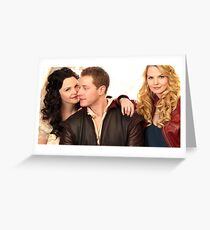 Once Upon A Time Emma Swan Snow White Prince Charming Greeting Card