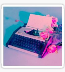 The 1975 Aesthetic Typewriter Sticker