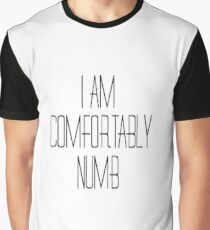 Pink Floyd Music Song Lyrics Comfortably Numb 70s Rock Graphic T-Shirt