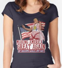 Making America Great Again! Donald Trump (IDIOCRACY) Women's Fitted Scoop T-Shirt