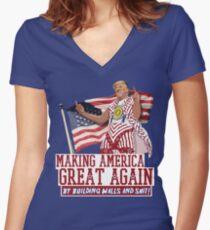 Amerika wieder groß machen! Donald Trump (IDIOCRACIE) Tailliertes T-Shirt mit V-Ausschnitt