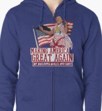 Making America Great Again! Donald Trump (IDIOCRACY) Zipped Hoodie