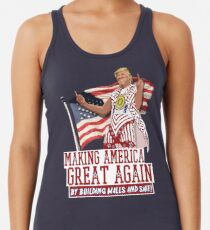 Camiseta con espalda nadadora Haciendo que Estados Unidos sea grandioso nuevamente Donald Trump (IDIOCRACY)