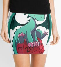 D&D - Dragons and Dice! (Green Dragon) Mini Skirt