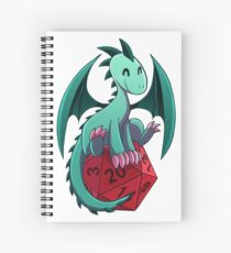 D&D - Dragons and Dice! (Green Dragon) Spiral Notebook