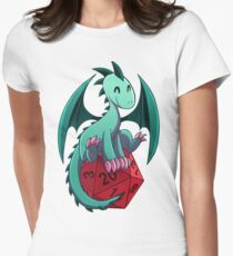 D&D - Dragons and Dice! (Green Dragon) Fitted T-Shirt