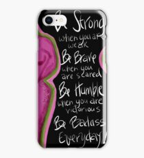 Be BRAVE Breast Cancer iPhone Case/Skin
