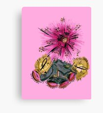 Warrior for breast cancer Canvas Print
