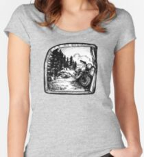 Rocky Mountain Roll - Tent View Women's Fitted Scoop T-Shirt
