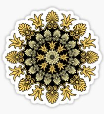Gold Greek ornament and floral pattern Sticker