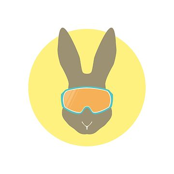 Rabbit with ski mask. by Anviczo