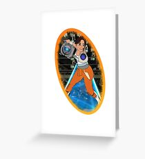 Portal - Chell & Wheatley Greeting Card