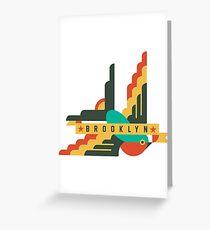 FLAT DESIGN SWALLOW - BROOKLYN Greeting Card