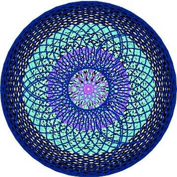 Patrón espiral azul + verde de AllisonKe
