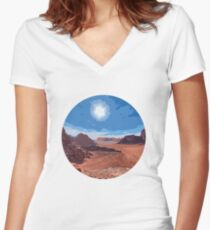 Desert Romance Women's Fitted V-Neck T-Shirt