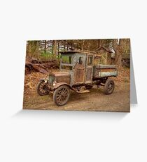 Ford Model T Country Driving Greeting Card