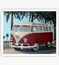 Little Red Bus Sticker