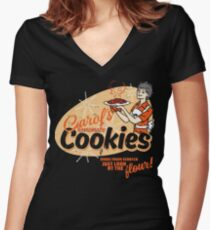 Carol's Cookies Women's Fitted V-Neck T-Shirt